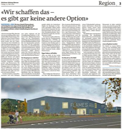 Zürichsee-Zeitung, Flames-Artikel