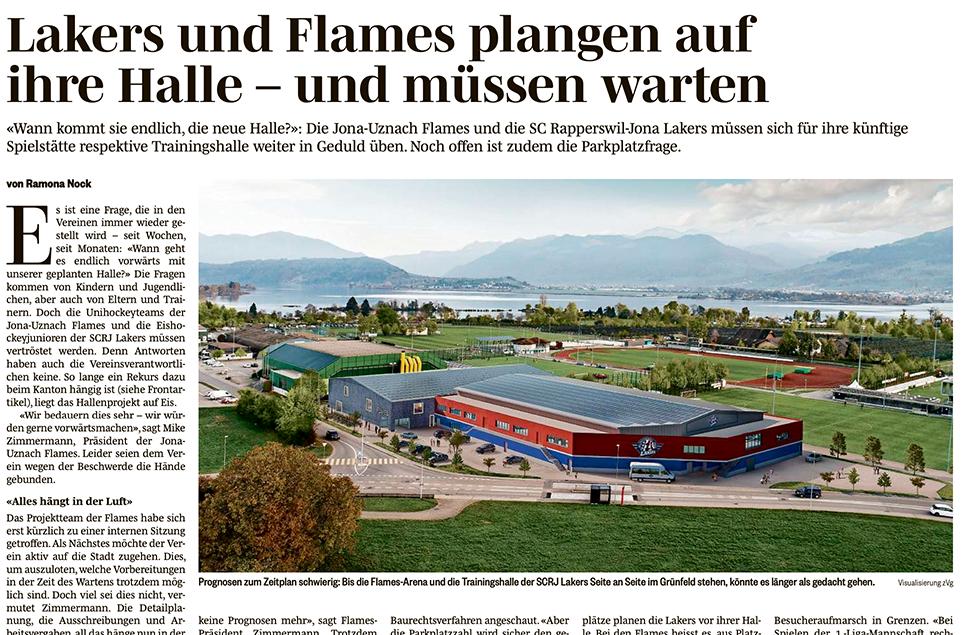 Rekurs blockiert Halle - Flamesarena